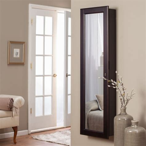 lighted jewelry armoire have to have it belham living lighted wall mount locking