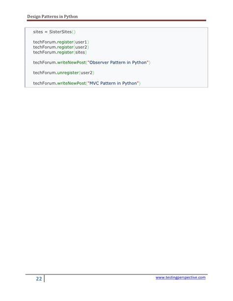 design pattern in python design patterns in python v0 1