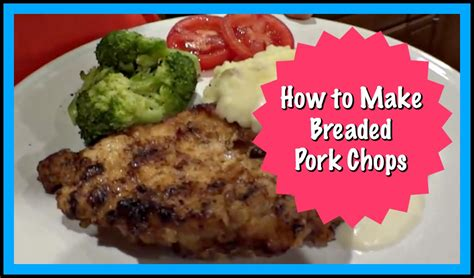 how to make breaded pork chops youtube