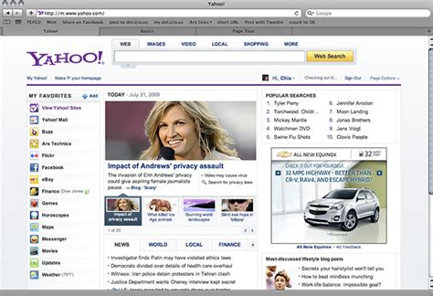 change yahoo layout back first look major yahoo makeover trickles down to us users
