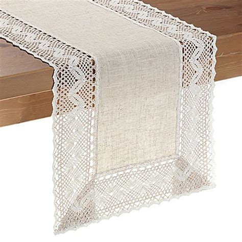 bed bath and beyond table runners pebble lace table runner bed bath beyond
