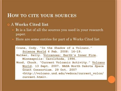 how to cite your sources in a research paper ppt mla style citations powerpoint presentation id 2442365