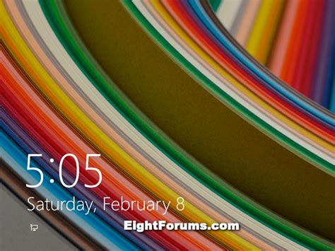 Screen Default lock screen default background image change in windows 8