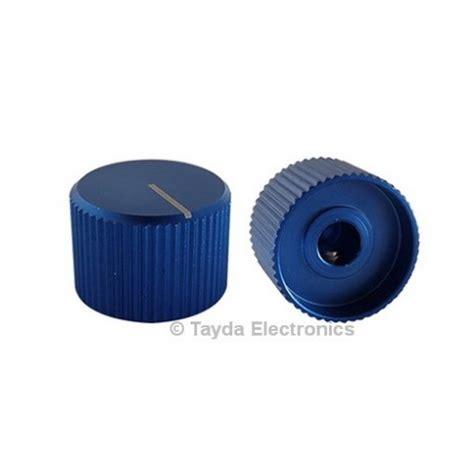 Blue Knob by Knurled Aluminum Blue Knob