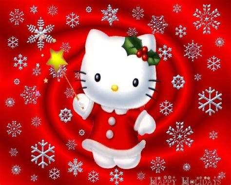 kitty christmas wallpapers wallpaper cave