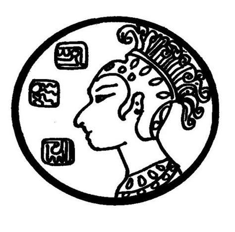 imagenes de monedas mayas dibujo de una moneda maya para pintar y colorear