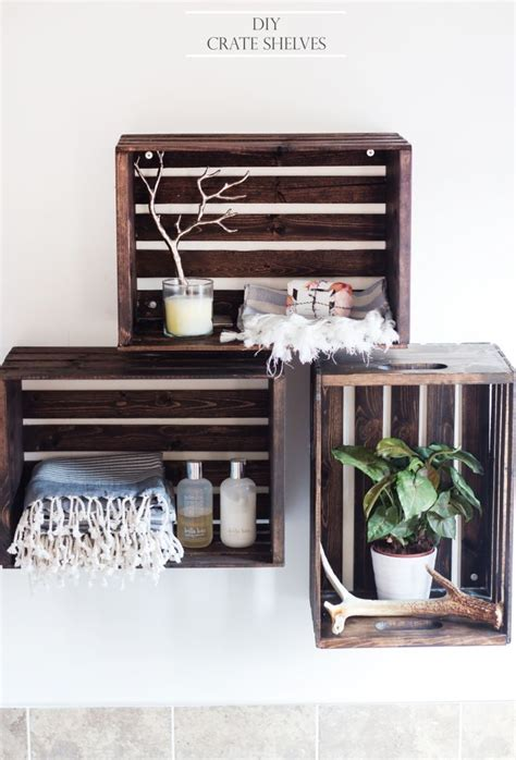 crate shelves diy diy crate shelves after a paint home decorating trends