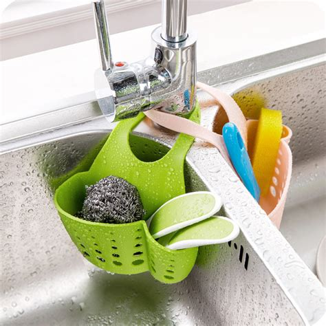 1pc kitchen sink sponge holder bathroom soap hanging