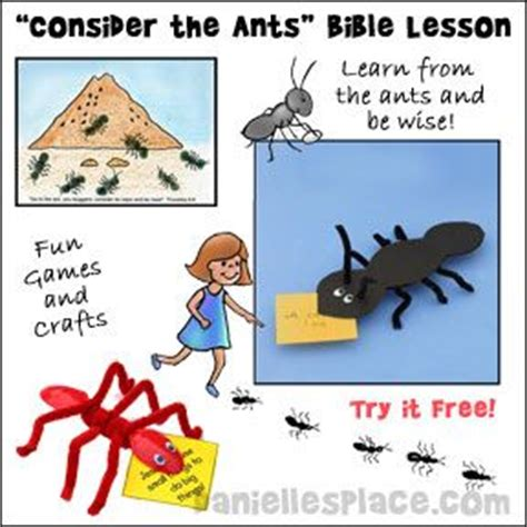 libro we are the ants free quot consider the ants quot sunday lesson from www daniellesplace com this lessons teaches