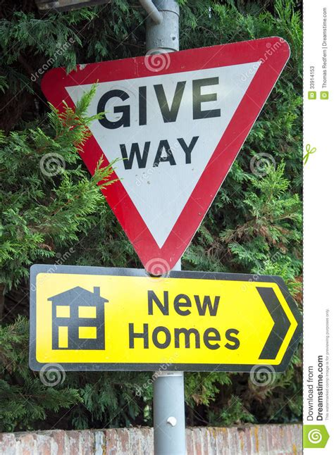 give way new homes stock photos image 33914153