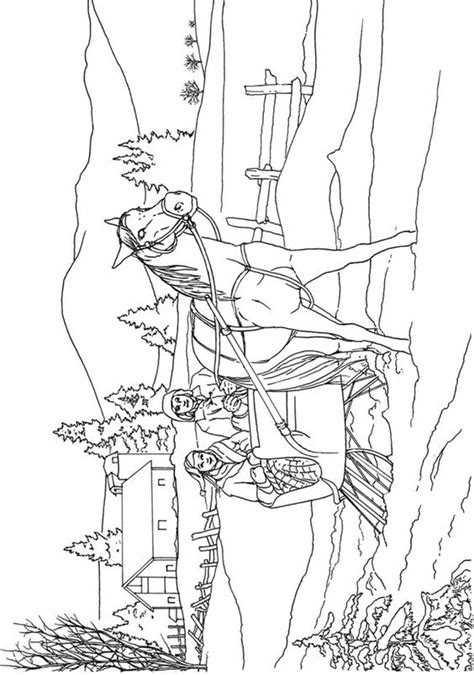 western landscape coloring page 50 western landscape coloring page country scenes
