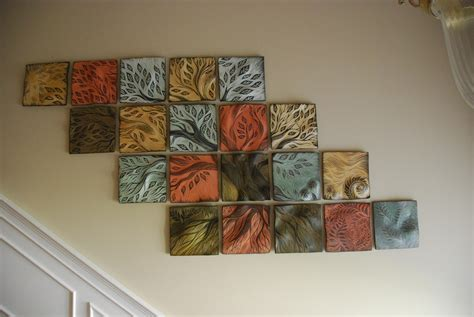 idea for tile art working wall art decor ideas studios trees ceramic wall tile art