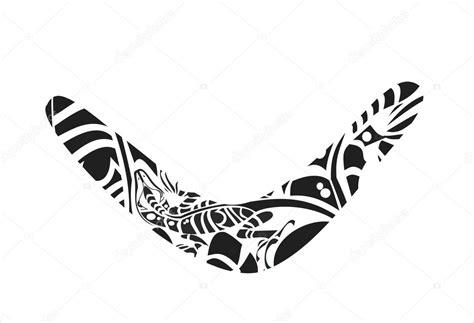 boomerang tattoo designs lizard on the boomerang stock vector