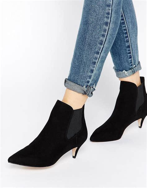 kitten heel ankle boots is heel
