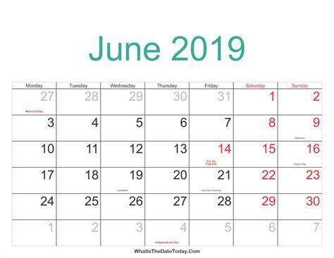 june  calendar calendar weekly printable
