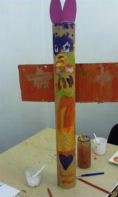 totem pole craft for artventurers and crafts for totem poles