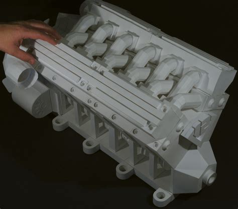Papercraft Engine - v12 engine paper model photo gallery autoblog