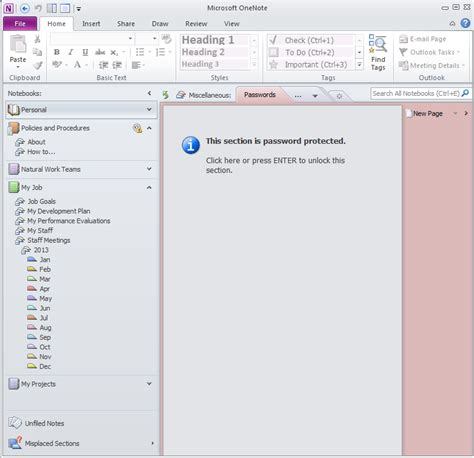 microsoft office notebook layout for pc mastering onenote 174 organizing your notebooks