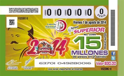 22 sorteo educativo boletos agotados emiten billete de loter 237 a alusivo a la feria durango