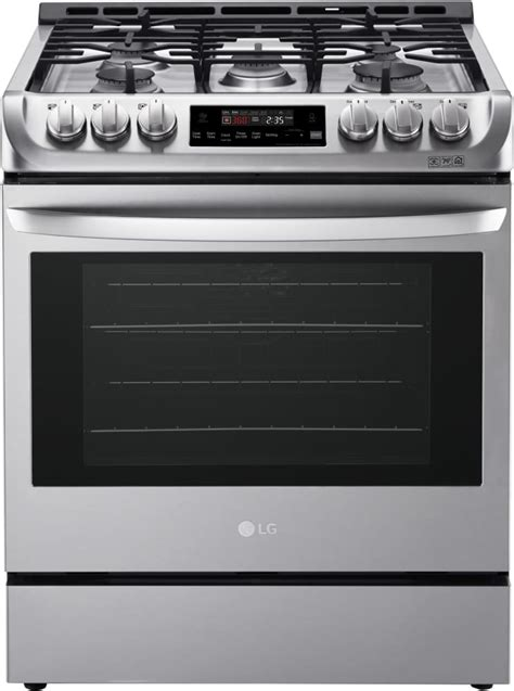 Gas Cooktop Btu Ratings - lg lsg4511st 30 inch gas slide in range with 6 3 cu ft