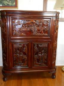Antique Bar Asian Carved Solid Rosewood Bar For Sale Antiques