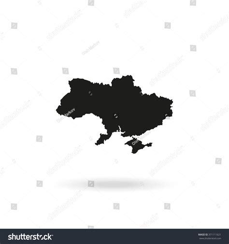 ukraine map vector ukraine map stock vector 371111621