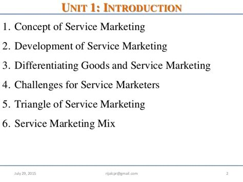 Mba Service Marketing Notes by Introduction To Service Marketing