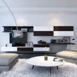 floating shelves in living room interior design