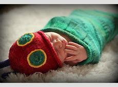 Knitted Hungry Caterpillar Sleep Sack and Hat Knitting ... James Harding Facebook
