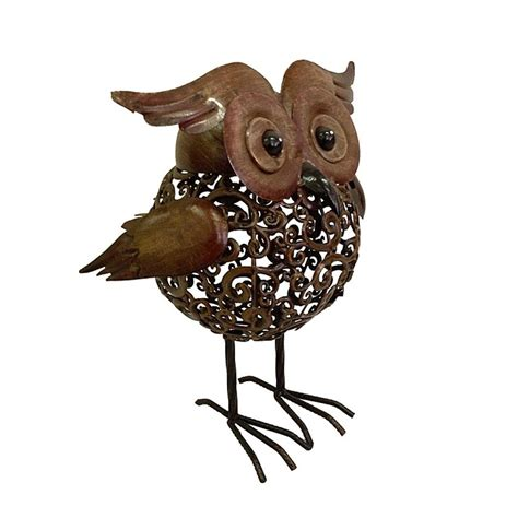 Metal Owl Decor by Metal Owl Garden Decor Mothers Day Gift Ideas