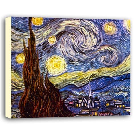 Starry Night Vincent Van Gogh Canvas Poster Starry Click Starry Vincent