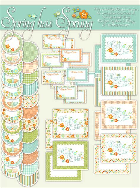 free printable easter label templates spring has sprung easter printable labels worldlabel blog