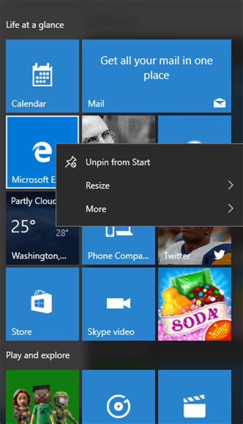 tutorialspoint windows configure windows 10 start button bing images