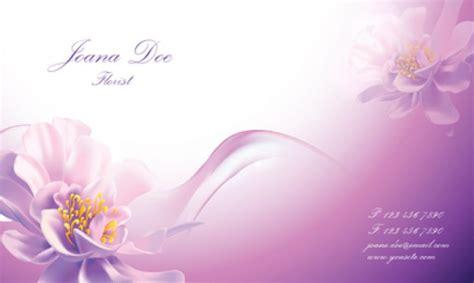 Schönen Blumen Visitenkarten Vorlage   Download der