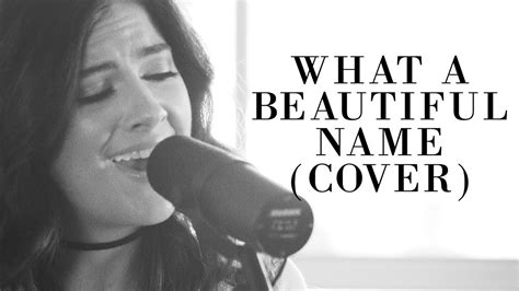 what a beautiful name hillsong worship what a beautiful name acoustic cover