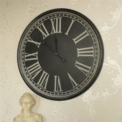 extra large wooden station wall clock melody maison 174 large round grey wall clock melody maison 174