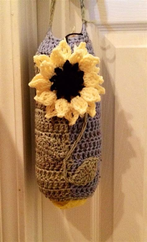 crochet pattern for trash bag holder pinterest the world s catalog of ideas
