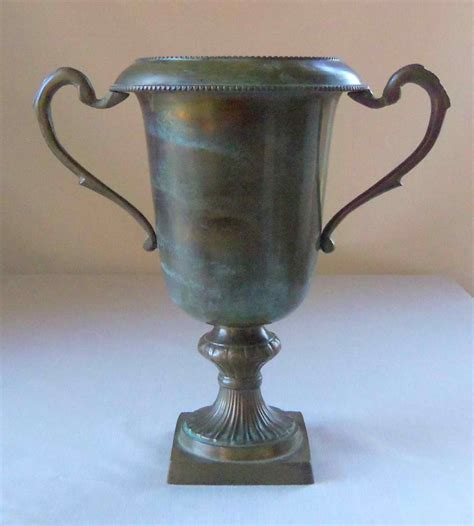 the loving cup a vintage brass loving cup trophy vase omero home