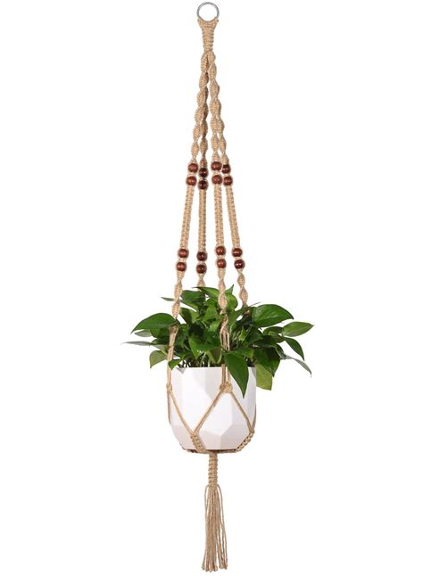 Rope For Hanging Plants - mkono macrame plant hanger indoor outdoor hanging planter