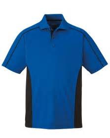 mens side color block moisture wicking performance polo