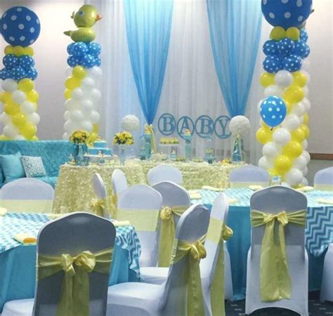 rubber ducky baby shower table decor rubber ducky baby shower baby shower ideas themes