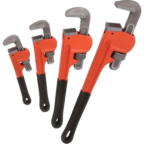Kunci Pipa Heavy Duty 4pc heavy duty pipe wrench set monkey heat treated