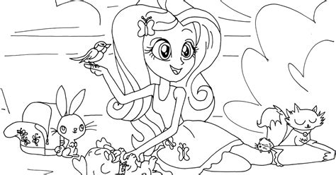 Free Printable My Little Pony Coloring Pages Fluttershy Fluttershy Equestria Coloring Pages Printable