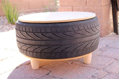 diy recycled tire coffee table lou