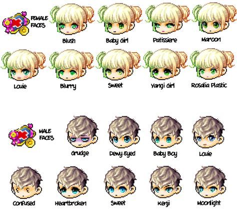all maplestory faces maplestory all faces royal kms ver 1 2 154 dual blade
