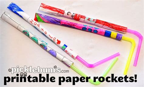 Paper Rockets - free printable paper rockets cause and effect from