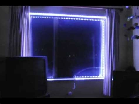 led lights for store windows led strip lights simple installation around a window