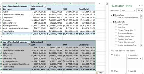 filtering excel pivot tables with a single slicer