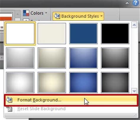 format video for powerpoint 2010 format slide background in powerpoint 2010 for windows