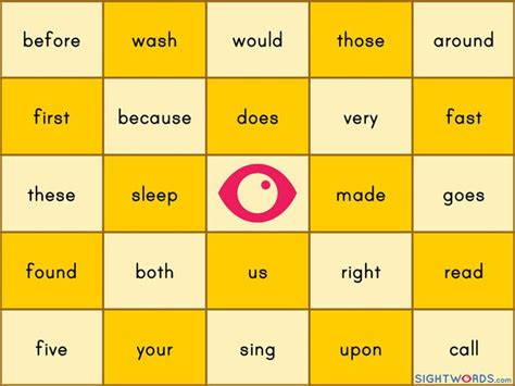 make a bingo card with words 25 best ideas about sight word bingo on